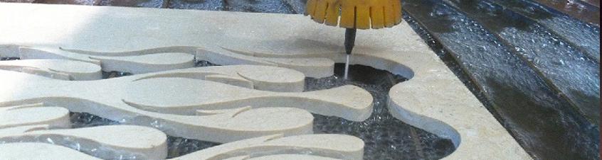 Cutting 20mm Marble Waterjet Stone Cutting  - Waterjet - Dublin